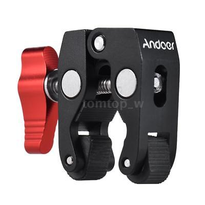 "Andoer Crab Pliers Clip Super Clamp with 1/4"" & 3/8"" Screw Hole for DSLR H1X4"