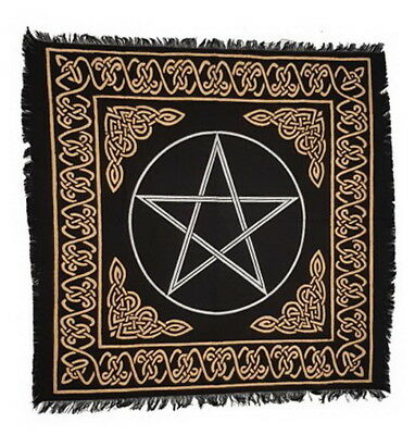 1 x PENTACLE ALTAR CLOTH 609 x 609 mm Wicca Pagan Witch Goth