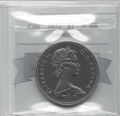 **1972**Coin Mart Graded, Canadian, Dollar, **PL-66 Cameo**