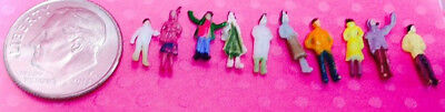 Dollhouse Miniature People - 10 Tiny, Tiny People in Standing Position