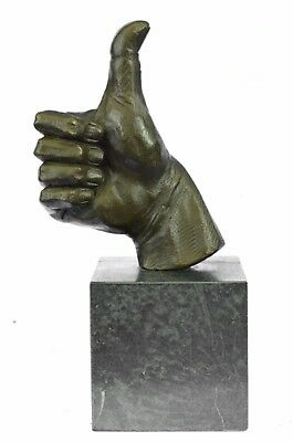 Thumbs Up Metal Sculpture contemporary-decorative-objects-and-figurines Figure
