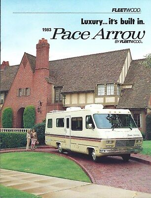 MOTOR HOME BROCHURE - Fleetwood - Pace Arrow - 1983 (MH154)