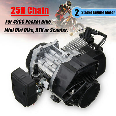 47cc 49cc 2 Stroke Engine Motor Parts For MINI Pocket Pit Dirt Bike ATV Scooter
