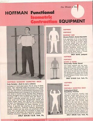 YORK BARBELL COMPANY Bob Hoffman ISOMETRIC CONTRACTION EQUIPMENT Order Blank