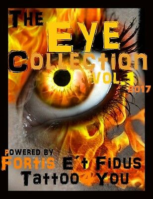 Tattoovorlagen DVD Eye Augen Tattoo Motive Cd Flash tattoo book Neu 2017 +Bonus