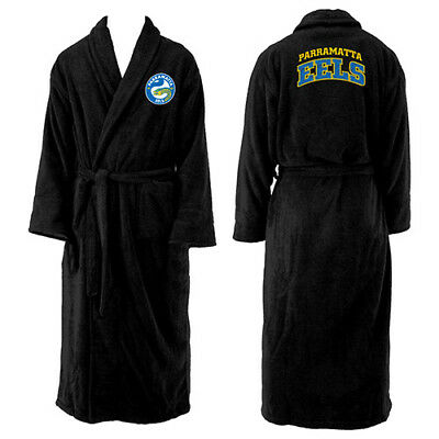 NEW 2018 Parramatta Eels NRL Adult Polyester Dressing Gown Bath Robe Gift
