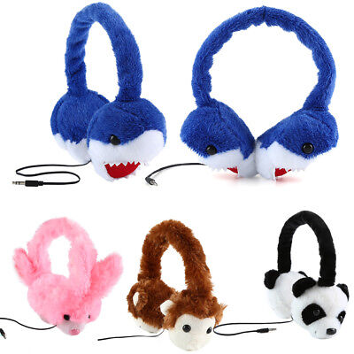 Kids Animal Headphone Plush Headset Audio Earphone Earmuffs for iPod MP3 Phone