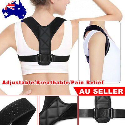 Posture Clavicle Corrector Shoulder Support Adjustable Therapy Back Belt Brace