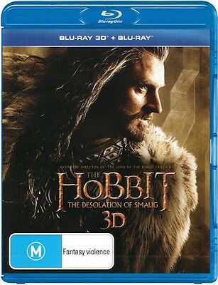 Hobbit 2: THE DESOLATION OF SMAUG : Blu-Ray 3D : NEW