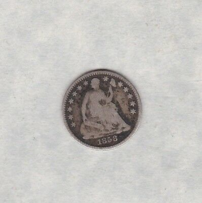 Usa 1858 Silver Half Dime In A Used Condition
