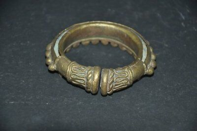 Old Brass Handcrafted Unique Shape Solid Heavy Tribal Bangle/ Bracelet