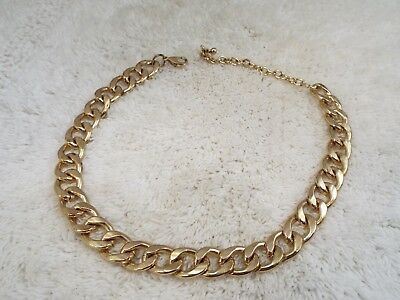 Heavy Goldtone Curb Chain Necklace (A30)