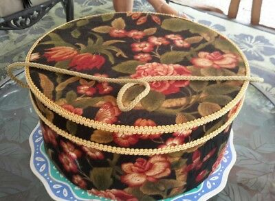 """Vintage Floral Hat Box Raymond Waites Collection By Once Upon A Rose 15.75"""" x 7"""""""