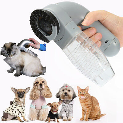 New Electric Pet Hair Remover Dog Cat Grooming Brush Comb Vacuum Clean Trimmer