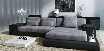 lform wohnlandschaft couch big xxl sofa leder polster ecke garnitur stoff textil eur. Black Bedroom Furniture Sets. Home Design Ideas
