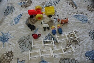 Fisher Price Little People Farm Animals, People, Tractor, Etc