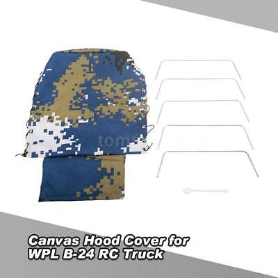 WPL B-24 1/16 RC Military Truck  Part Canvas Truck Hood Cover For B0U3