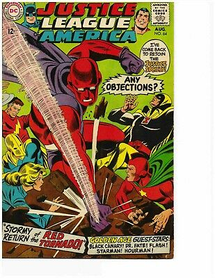 JUSTICE LEAGUE OF AMERICA #64 (Aug 1968) Very Good