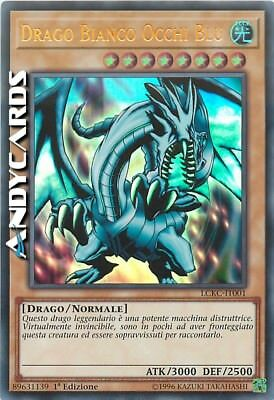 DRAGO BIANCO OCCHI BLU (ART 1)  • Ultra Rara LCKC IT001 • YUGIOH ANDYCARDS