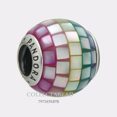 Authentic Pandora Silver Multi-Color Mosaic CZ Bead 797183MPR NEW SUMMER 2018!