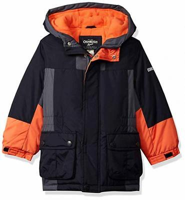 6d33a1ded78f Osh Kosh B gosh Toddler Boys Navy   Orange Parka Outerwear Coat Size ...