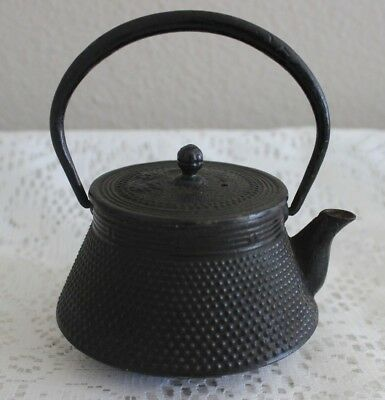 Vintage Small Japanese Cast Iron Tetsubin Teapot