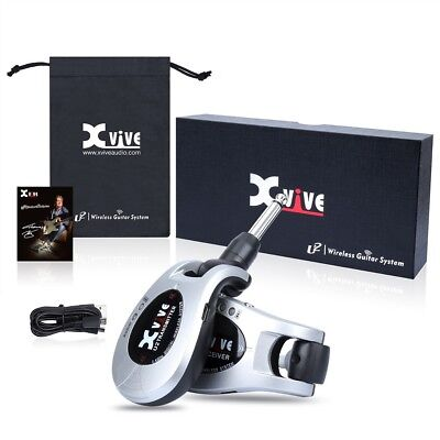 XVIVE U2 SILVER Wireless System Electric Guitar Live Stage Transmitter Receiver