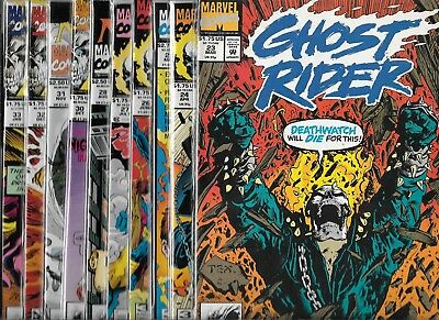 Ghost Rider Lot Of 9 - #23 #24 #25 #26 #28 #30 #31 #32 #33 (Vf/nm) + Free #27