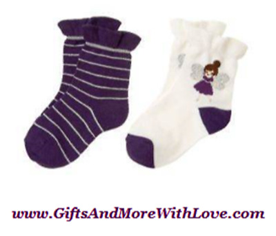 Gymboree Olivia 2 pair socks NWT Small shoe size 11-12 or 2T 3T