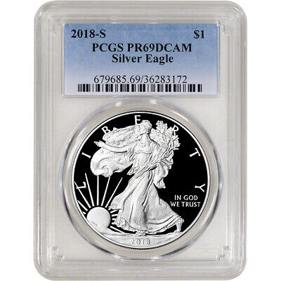 2018-S American Silver Eagle Proof - PCGS PR69 DCAM