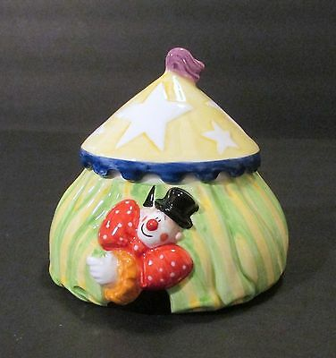 """Fitz and Floyd Clowning Around Collection 2 Piece """"Circus Tent"""" Box with Lid"""