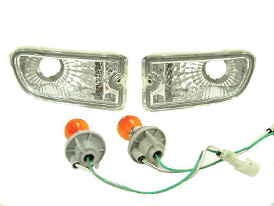 Chrome Crystal Clear Front Bumper Signal Lights For 99-01 Subaru Impreza 2.5RS