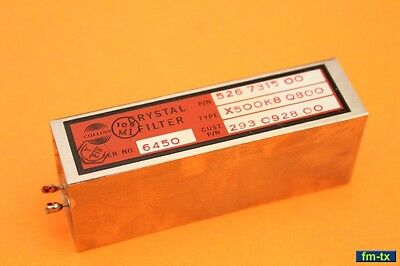 COLLINS 51S-1 - CW CRYSTAL FILTER - p/n 293-0928-000 - IF 500.8kHz - BW 800Hz