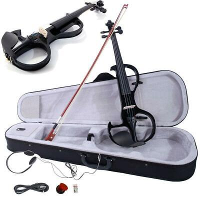 Hot 4/4 Size 8 Pattern Electric Violin Fiddle with Accessories Brown Promotion