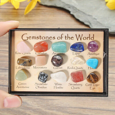 12pcs/Set Chakra Stones Natural Stone Reiki Healing Crystal Gemstones NEW