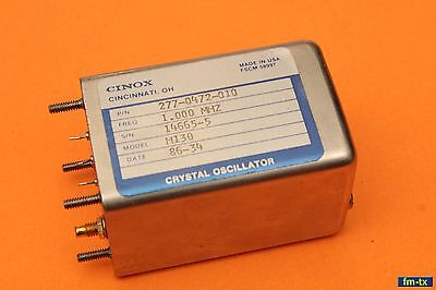 ROCKWELL COLLINS HF-80 line 277-0472-010 OSCILLATOR CRYSTAL CONTROLLED 1.000 MHz