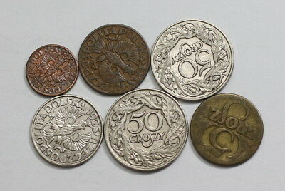 Poland Old Coins Useful Lot A83 Rzv15