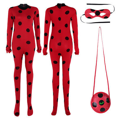 Adult Cosplay Jumpsuit Womens Bodysuit Uniform Costume Eye Mask Halloween Party