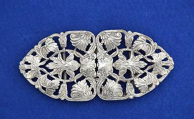 3.Solid Silver Victorian Style Nurses Belt Buckle - 1994  call the midwife -