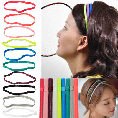 Women Man Yoga Sports Gym Stretch Headband Hair Rope Elastic Band Accessories