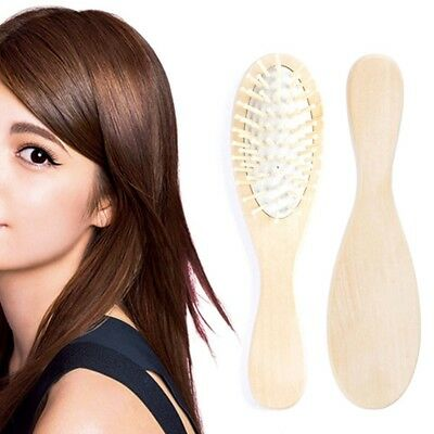 Wooden Natural Bamboo Hair Vent Brush Keratin Care Massager Wood Massage Comb