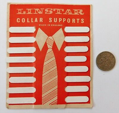 Linstar Collar Supports on original card packaging vintage shirt collar stays