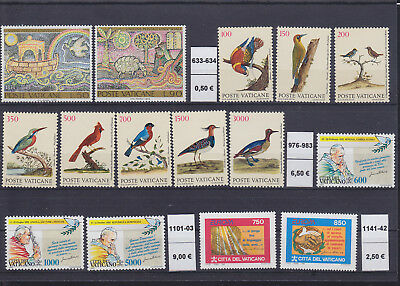 065280 Vögel Birds ... Vaticano Stamps Briefmarken ** MNH - Lot