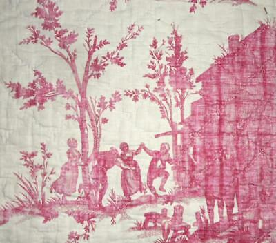 NEW AUTUMN STOCK, RARE 18th CENTURY FRENCH LINEN TOILE DE JOUYc1790 2.