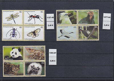 065301 Vögel Birds ... UNO United Nation Stamps Briefmarken ** MNH - Lot