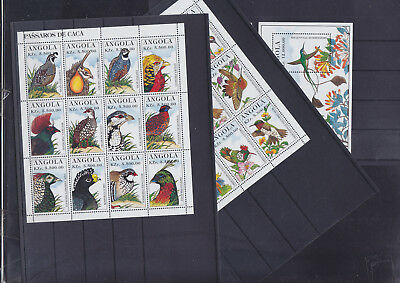 065307 Vögel Birds Angola 1032-55 + Block 25/26 ** MNH Year 1996