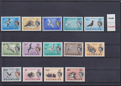 065316 Vögel Birds Ascension 75-88 ** MNH Year 1963
