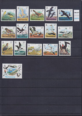 065321 Vögel Birds Ascension 196-211 ** MNH Year 1976