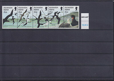 065323 Vögel Birds Ascension 443-47 ** MNH Year 1987