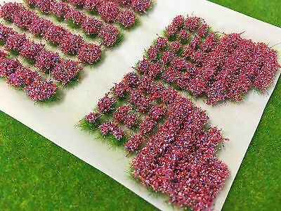 Mixed Red Garden Flowers Static Grass Tufts 4mm -Model Scenery Railway Warhammer